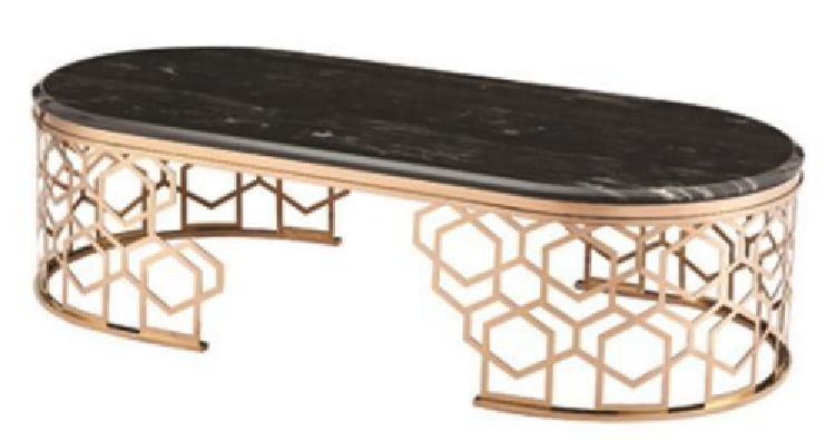 Living Room Luxury Coffee Table with Nature Marble Top