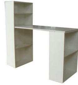 Modern Computer Desk with Bookshelf