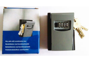 Key Safe Box, Combination Lock, 4-Digits Key Holder Box, Al-280