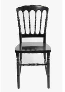 Resin Black Stackable Retal Restaurant Banquet Napoleon Chair