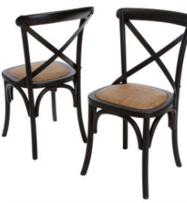 China Cheap Durable Black Wood Cross Back X Chair