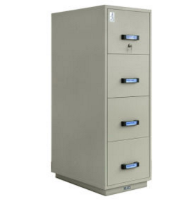 UL Certified Fire Resistant Filing Cabinet, Vertical Cabinet (UL750FRD-II-4001)