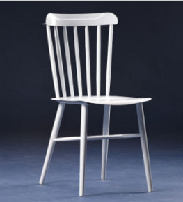 New Arrival White Painted Metal Windsor Chair (SP-MC072)