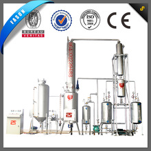 Two pre-heating tanks waste oil recycling machine