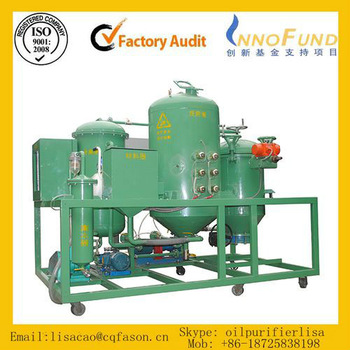 Black engine oil refining machine / Used car oil filtration system