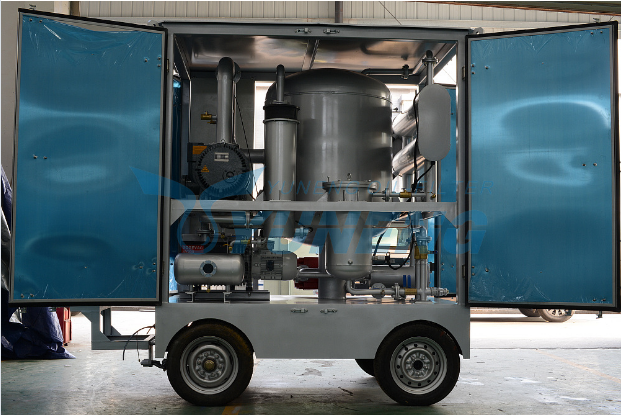 Yuneng Brand Vacuum Transformer Oil Purifier with Trailer
