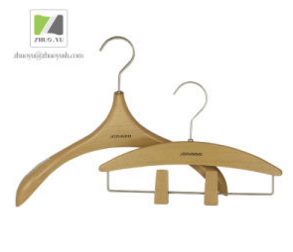 Imitation Wood Grain ABS Plastic Cloth / Coat Hanger