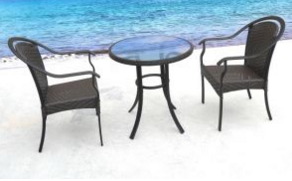Outdoor Furniture for Dining Room with 2 Seater / SGS (6110)