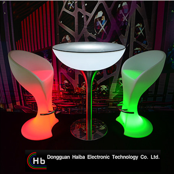 LED Lighting Cocktail Table/ LED Illuminated Bar Table/ LED Lighting Bar Furniture