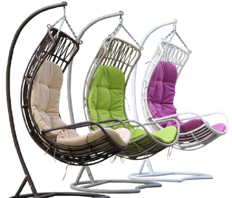 Garden Furniture Hanging Chair Wicker Egg Chair Outdoor Rattan Swing (D010)