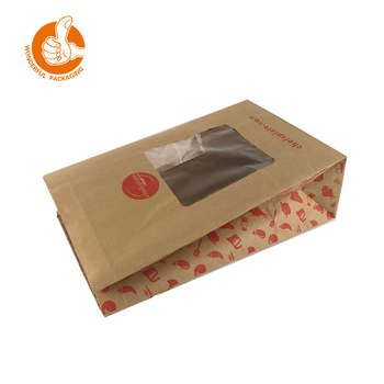 custom biodegradable foldable paper bag brown kraft with environmental