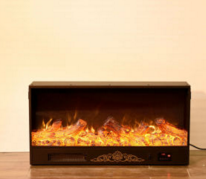 Hotel Furniture Beautiful Vivid LED Flame Fireplace Electric Heater with Decoration