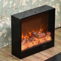MDF Electric LED Lights Core Fireplace Hotel Furniture