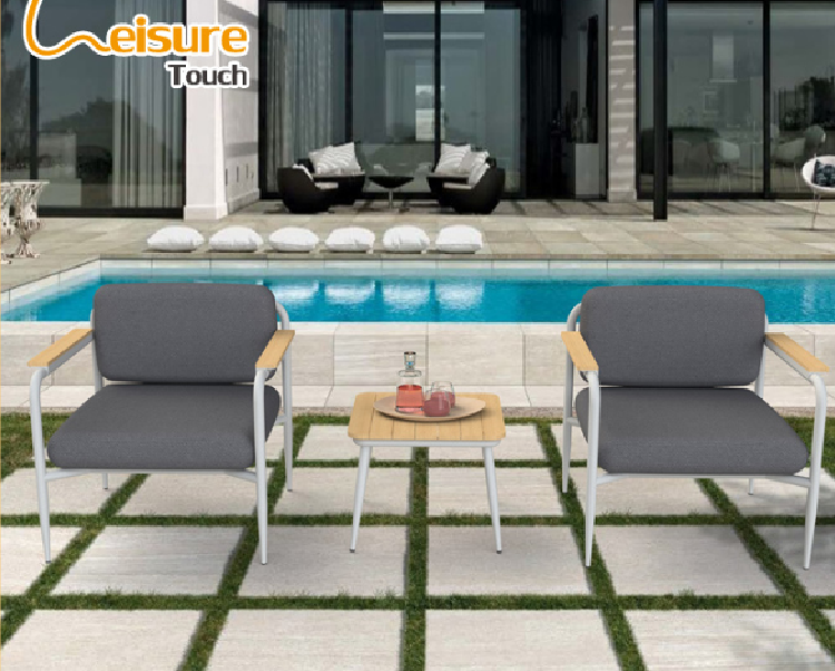 High Quality Aluminum Garden Hotel/Home/Cafe/Restaurant Dining Set Table and Chair Outdoor Patio Furniture