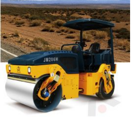 6 Ton Tire Road Roller Full Hydraulic Road Compactor (JM206H)