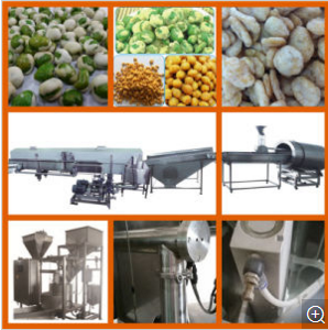 Food Coating Machine Coated Peanut Processing Line