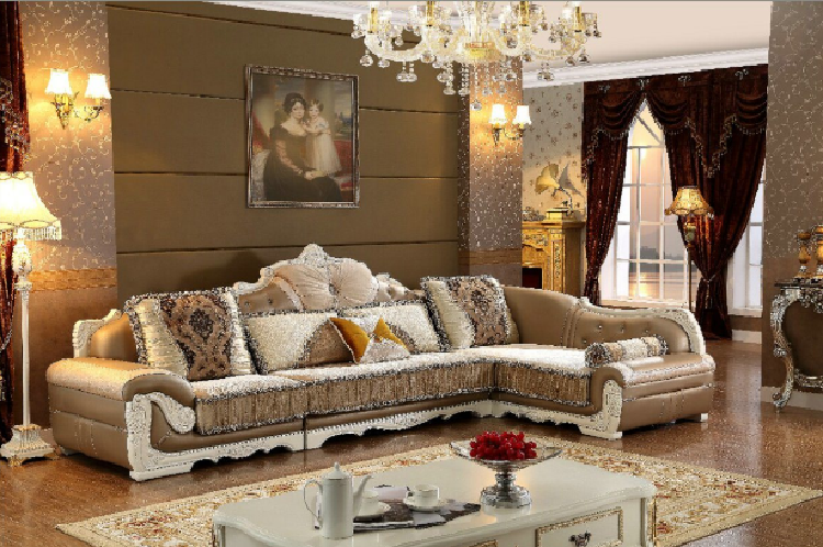 Comtemporary Europe Style Good Quality Corner Fabric Sofa