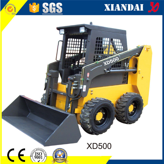 High Quality Skid Steer Loader with Attachments (XD500)