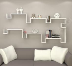 Angi Wall Shelf Set of 2 Display Rack Book Shelf Furniture GB2803