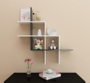 Angi Combined Wooden Wall Shelf Board Rack Book Shelf GB2804