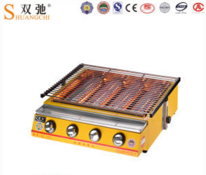 High Quality Commercial Outdoo Four Head BBQ Gas Grill