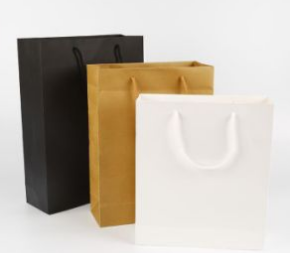 Brown White Black Cardboard Paper Bag