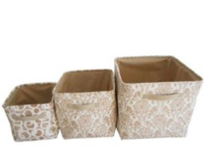 Collapsible Fabric Foldable Non Woven Storage Boxes with Handle