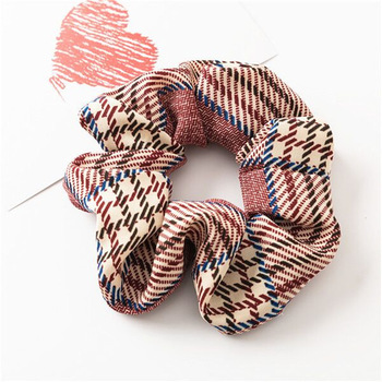 Factory wholesale girls new style fabric hair scrunchies bulk