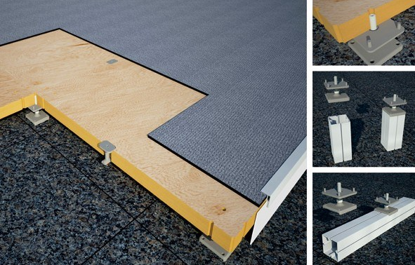 Aluminum Modular Exhibition Floor Stage Ajustable Plywood Floor