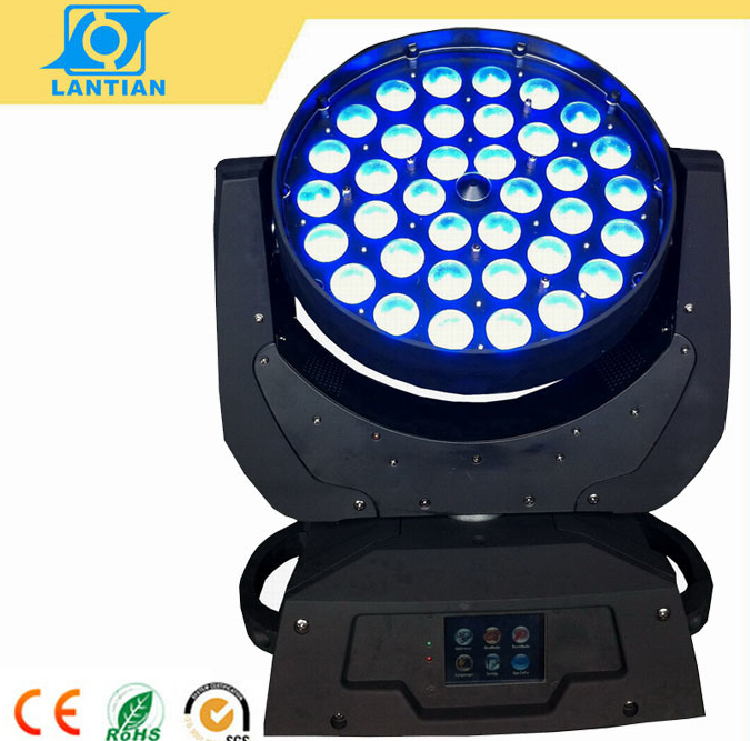 36X10W Quad in One LED Zoom Wash Moving Head Stage Light
