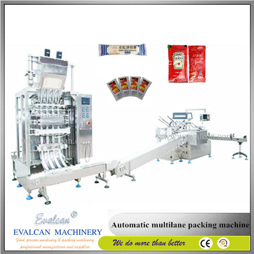 Multi-Lane Tomato Paste Sachet Packing Machine (DLP)