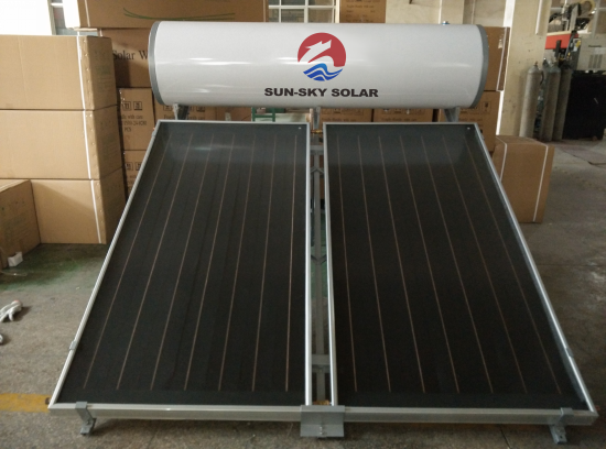 Flat panel non pressure solar water heater