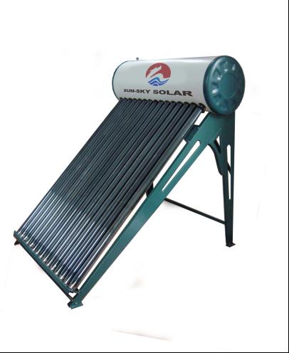 Vacuum tube low-pressure solar water heater