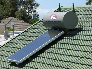 Flat panel compact pressure solar water heater