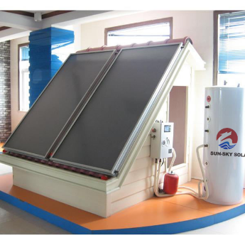 Flat plate split pressure solar water heater