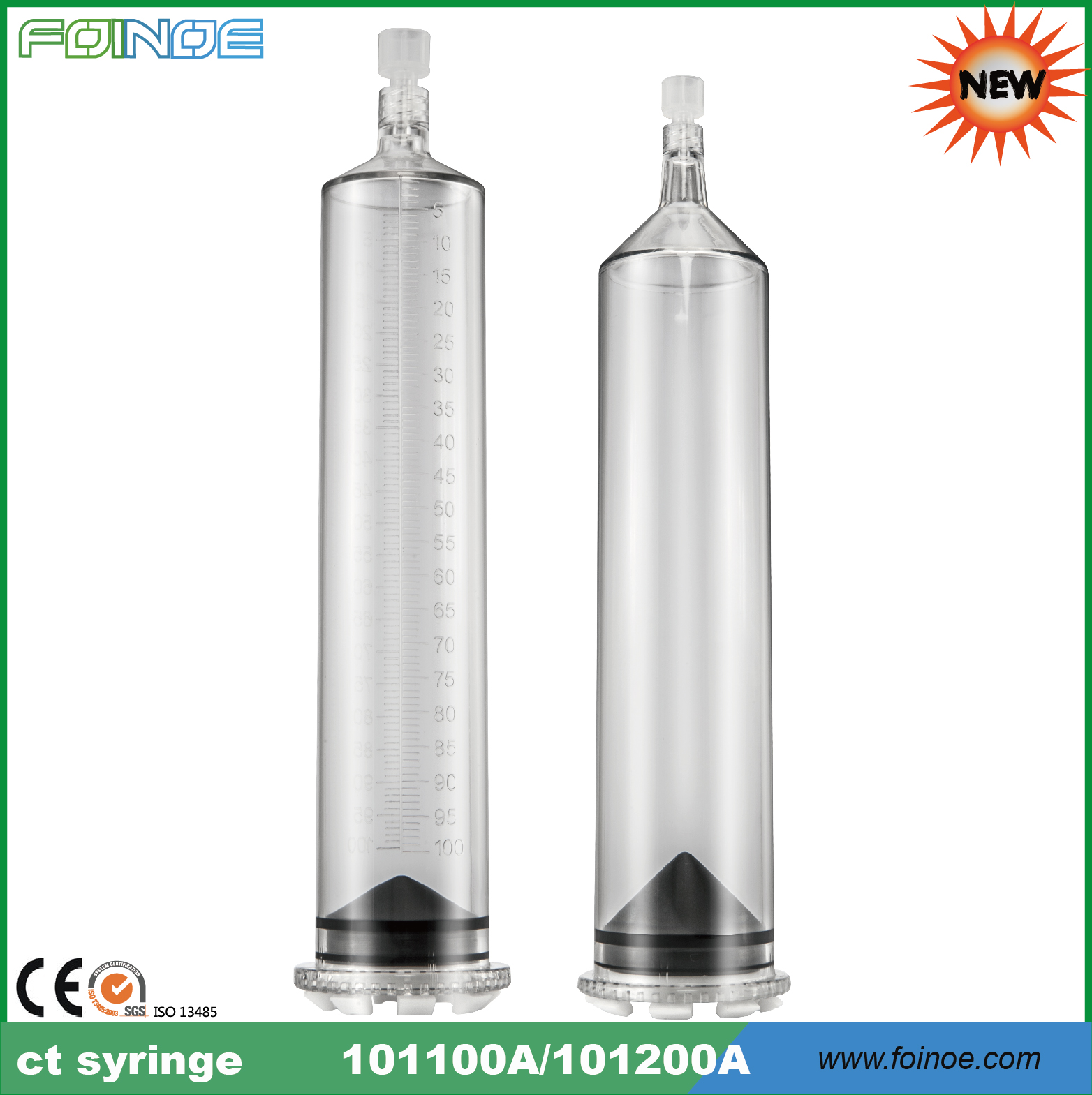 Medrad-Compatible --- tubing in ct & 100ml large syringes