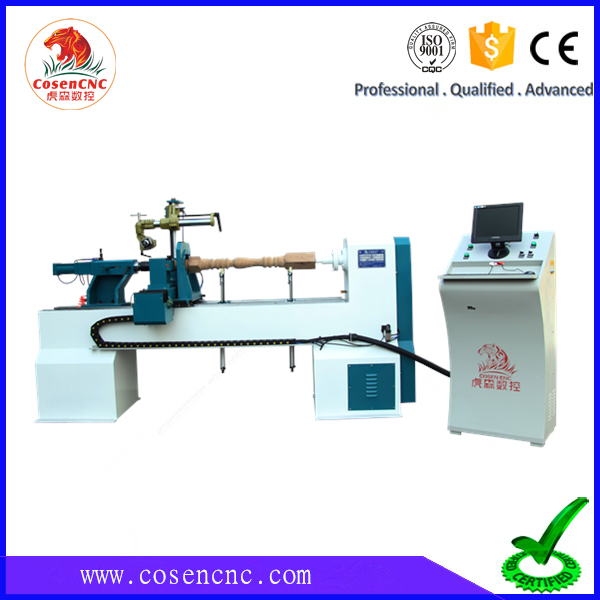 cosen new multifunctional double turning tool cnc woodworking lathe machine with best quality