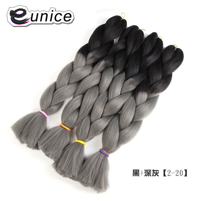 Ombre Kanekalon Jumbo Synthetic Braiding Hair Crochet Blonde xpression braiding African Hair Extensions Jumbo Braids Hairstyles 100gram 24inches