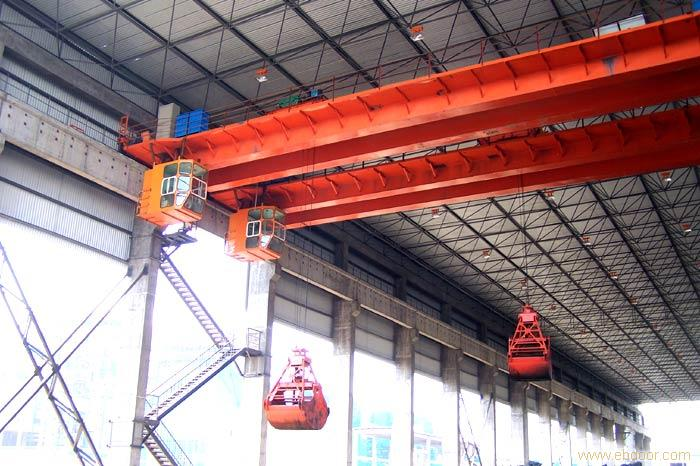 Lifting Coal/Scrap QZ Type 10tons 20tons Electric Double Girder Grab Bucket Bridge Crane