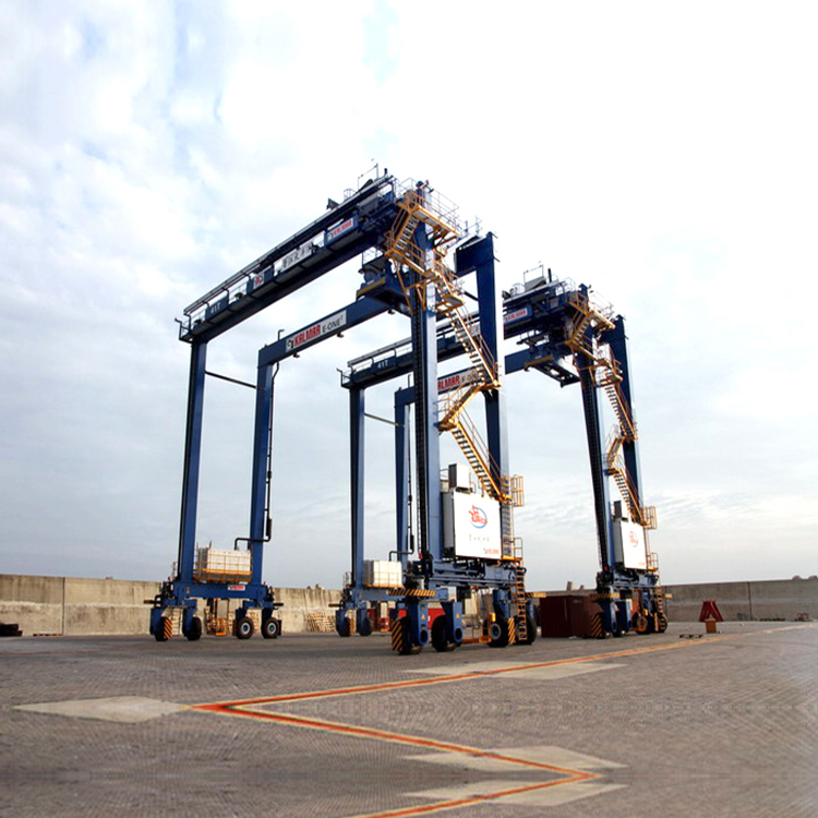 Heavy Duty Rail Mounted Gantry RTG Crane 40T