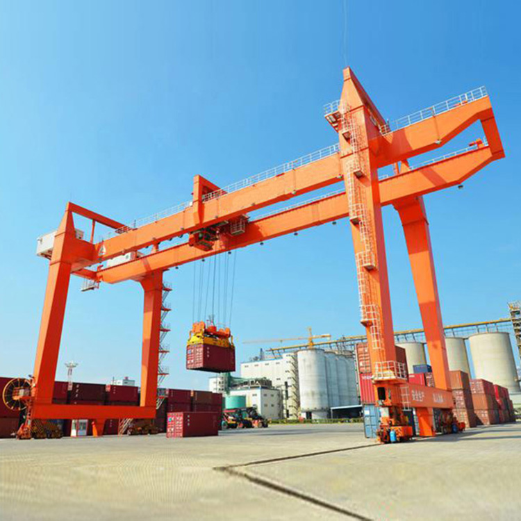Container Gantry Cost Rmg Double Girder Used Rail Mounted Portal Crane