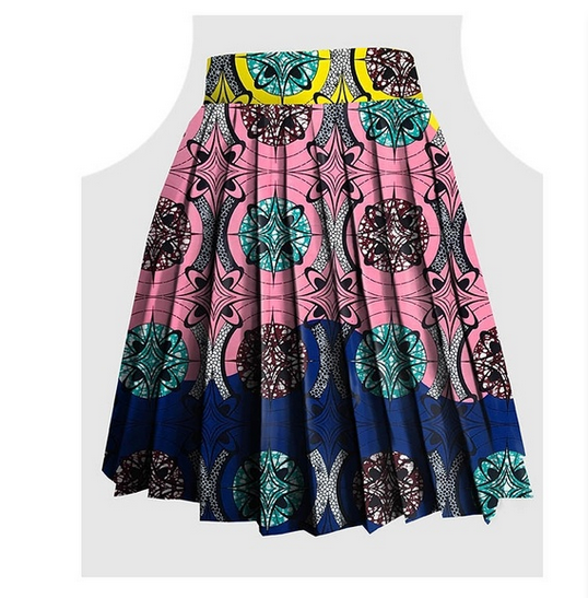 Womens African Skirts Cotton Wax hollandais Sexy Floral Print Dress Casual A Line Dashiki Ball Gown Plus Size Length 24 inch - buying leads