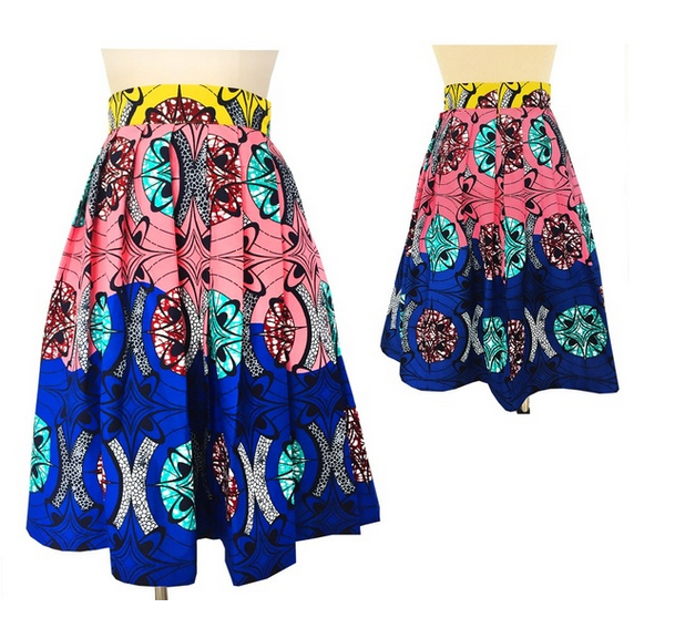 Womens African Skirts Cotton Wax hollandais Sexy Floral Print Dress Casual A Line Dashiki Ball Gown Plus Size Length 24 inch- buying leads