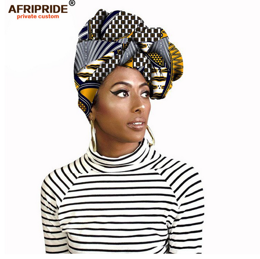 Fashion african head scarf print cotton high quality women african clothing bazin rich Headwear wax A18H002- buying leads