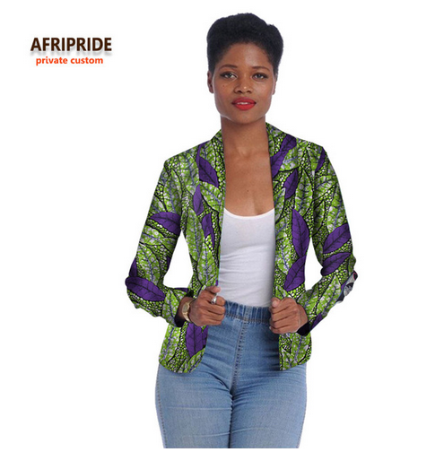 2018 african women clothes fashion jacket long sleeve coat new cotton batik fabrics top suit for young ladys and girlsA722405- buying leads