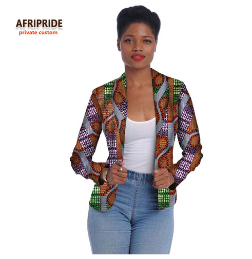 2018 african women clothes fashion jacket long sleeve coat new cotton batik fabrics top suit for young ladys and girlsA722405 - buying leads