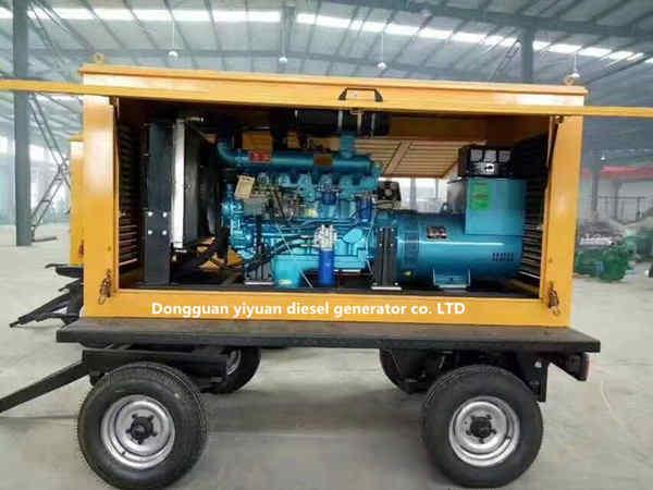 Mobile Diesel Generator Set/ Mobile Rainproof Diesel Generator/Trailer Type Diesel Generator