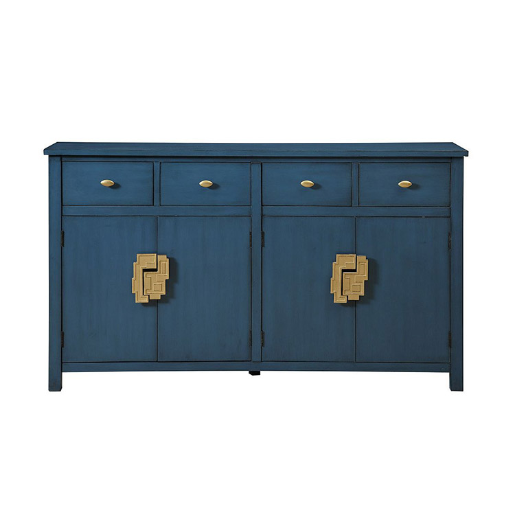 Four door cabinet with four drawers