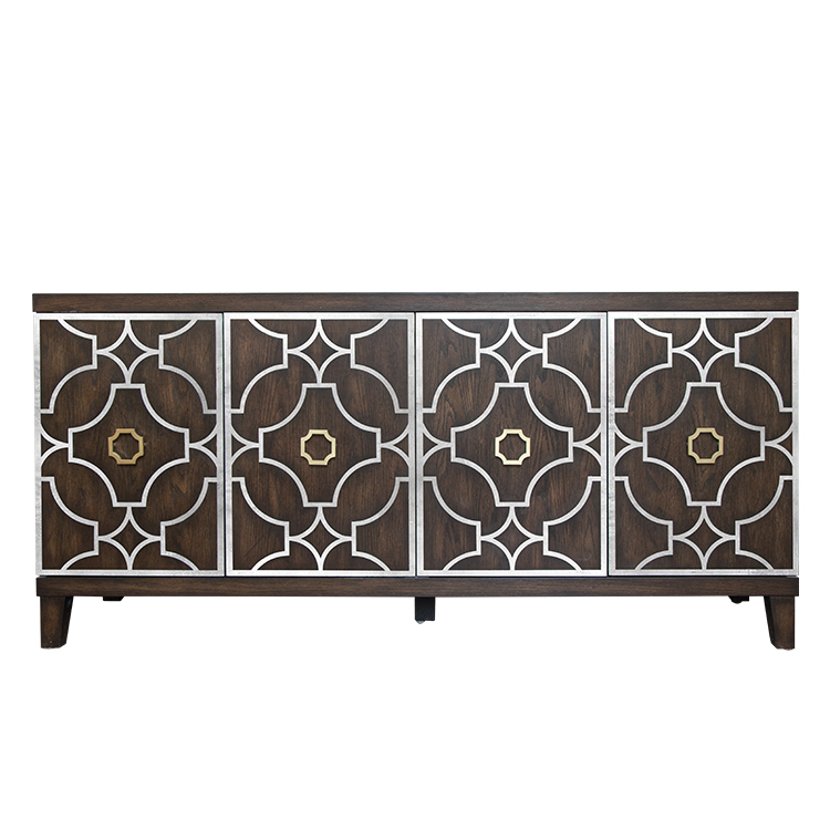 Four door cabinet,latest design dining room distressed sideboard