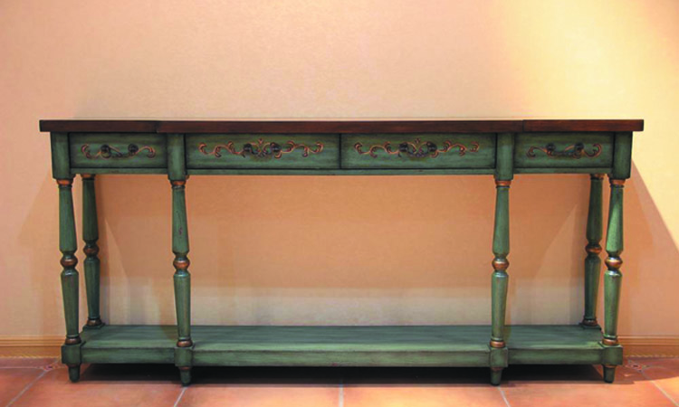antique console tables with four drawers